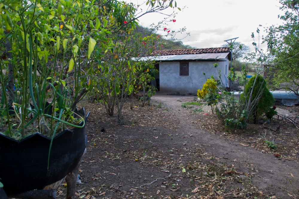 The López family house is calm at midday in Sabana Grande, Nicaragua on March 9, 2015. The family built their house when they moved to Sabana Grande in 2007 and lived with only diesel lamps for light for several years. Danika Worthington/JMC 470